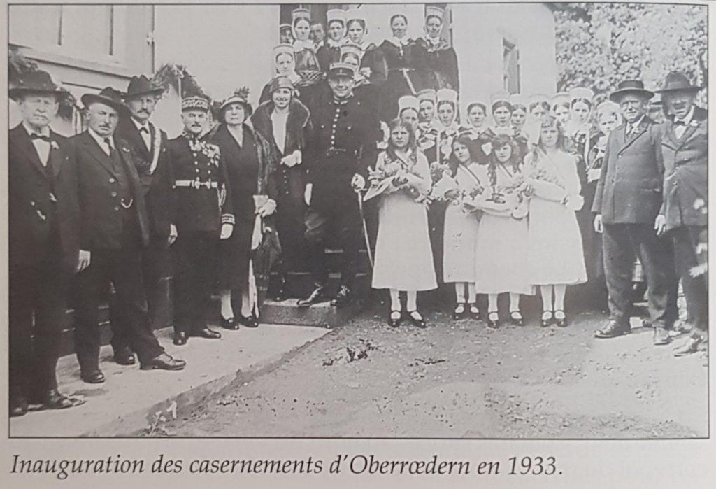 Inauguration des casernements d'Oberrœdern en 1933.